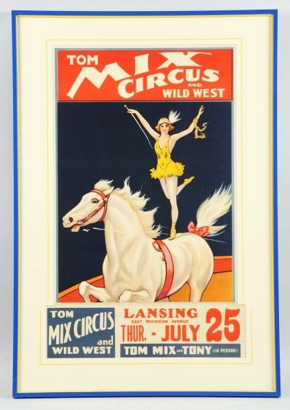 1916: Tom Mix Circus & Wild West Poster.