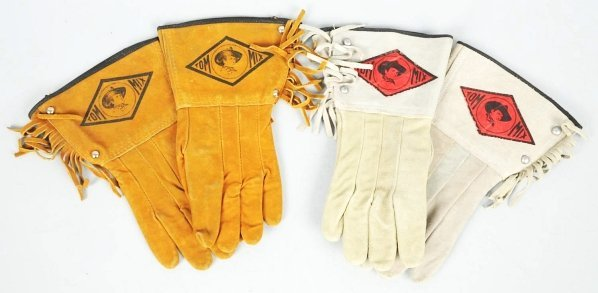 1918: Lot of 2: Pairs of Tom Mix Gloves.