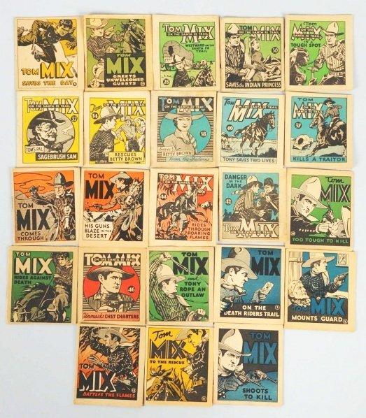 1920: Lot of Tom Mix 1934 National Chicle Books.