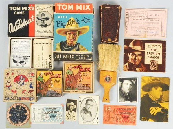 1921: Lot of Tom Mix Items.