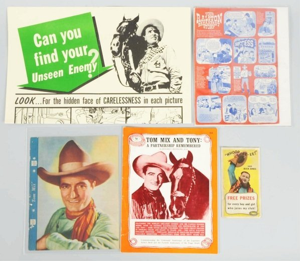1922: Lot of 5: Tom Mix Items.