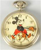 2138 Walt Disney Mickey Mouse Pocket Watch