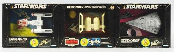 2437: Lot of 3: Star Wars Fighter Toys.