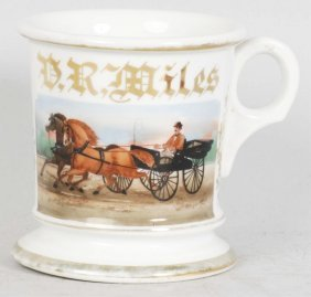 Horse-Drawn Carriage Shaving Mug.