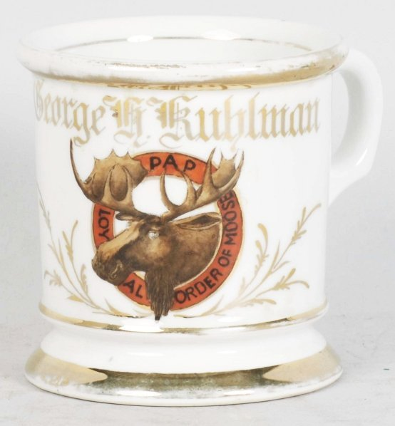 8: Order of the Moose Shaving Mug.