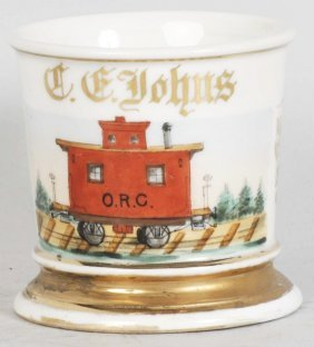 11: Trolley Car Shaving Mug.