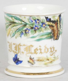 12: Beautiful Butterfly Shaving Mug.