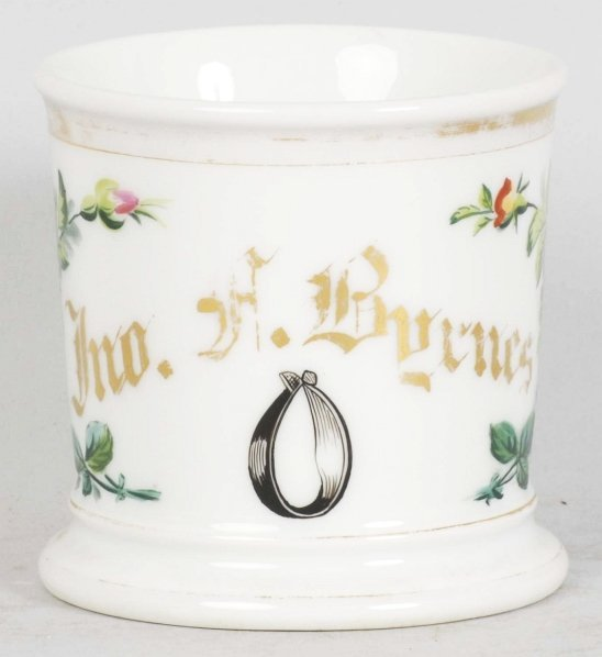 14: Collar Maker Floral Shaving Mug.