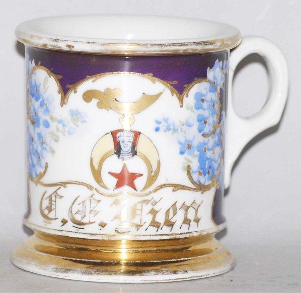 18: Masonic Floral Shaving Mug.