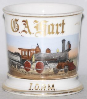 21: Locomotive Train Shaving Mug.