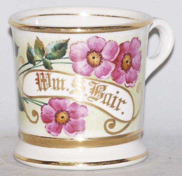 22: Floral Shaving Mug.