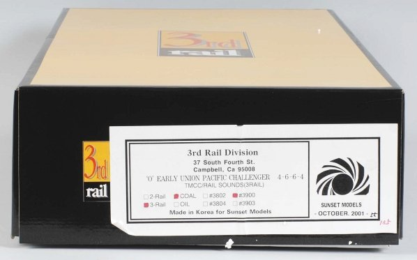 894: 3rd Rail Sunset Model Brass Train Engine & Tender