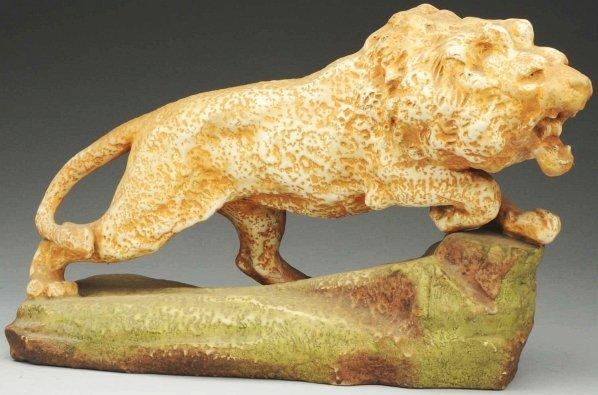 13: Amphora Ceramic Figural Lion.