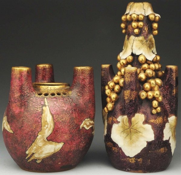 14: Lot of 2: Amphora Vases.