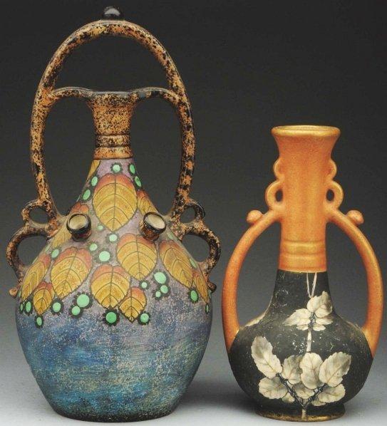 18: Lot of 2: Amphora Tulip Vases.