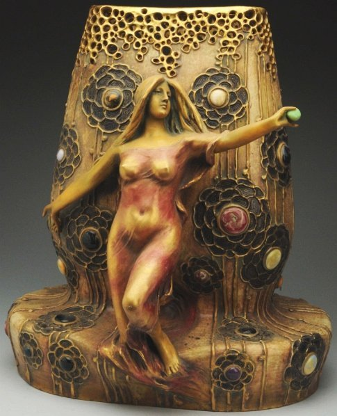 52: Monumental Amphora Daughter of the Rhine Vase.