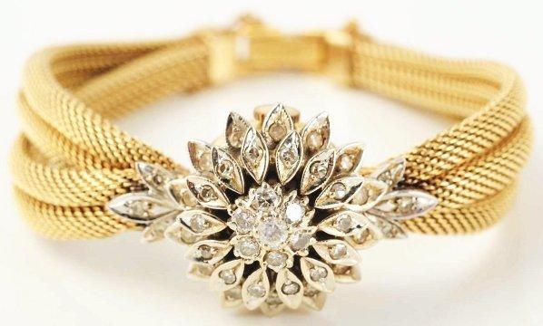 505: 14k Yellow & White Gold Ladies Diamond Watch.