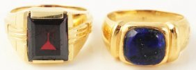 Lot Of 2: Men's Gold Rings.