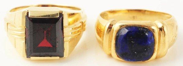 511: Lot of 2: Men's Gold Rings.