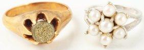 513: Lot of 2: 14k Gold Rings.