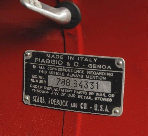 66: 1964 Vespa Sears Allstate Motor Scooter. - 4