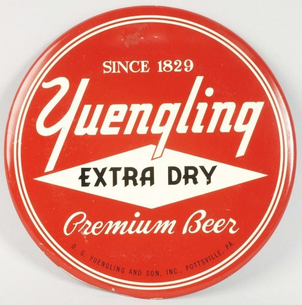 Yuengling Tin over Cardboard Disc.