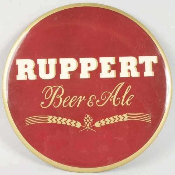 Ruppert Beer & Ale Celluloid Sign.