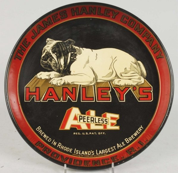 Hanley's Peerless Ale Advertising Serving Tray.
