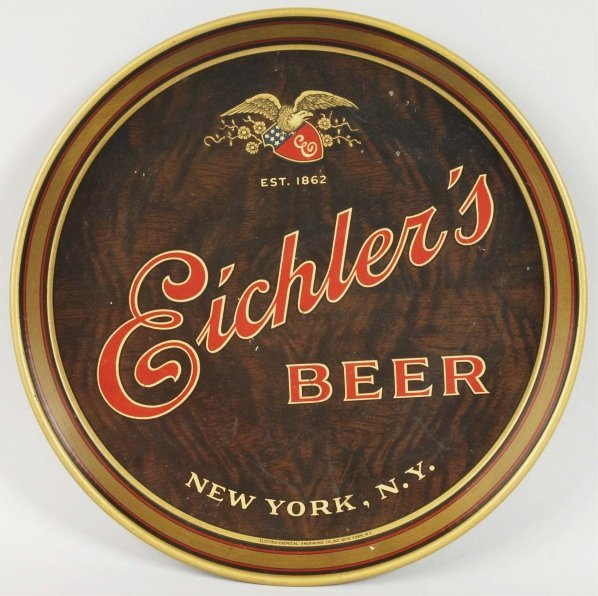 Eichler's Beer Advertising Serving Tray.