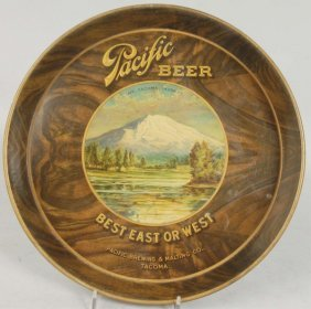 Pacific Beer Tin Serving Tray.