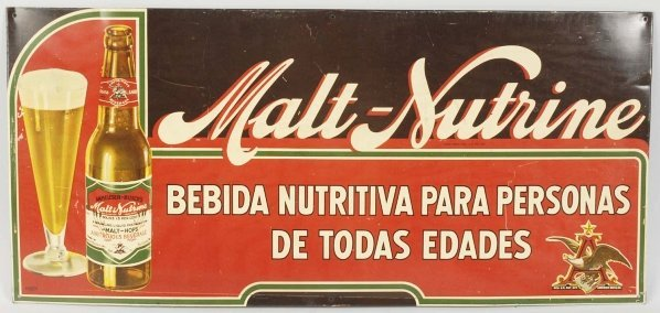 AB Malt-Nutrine Spanish Language Sign.