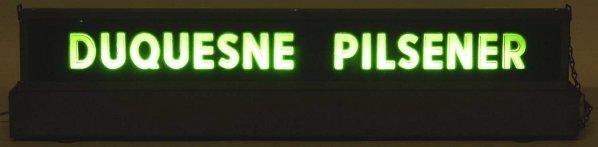 Duquesne Pilsener Light-Up Sign. - 2