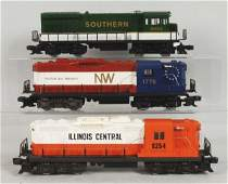Lot of 3: Lionel Contemporary Train Engines.