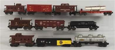 Lot of 10: Lionel Train Cars.