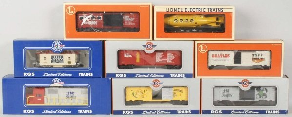 Lot of 8: Lionel & RGS Beatles Train Cars.