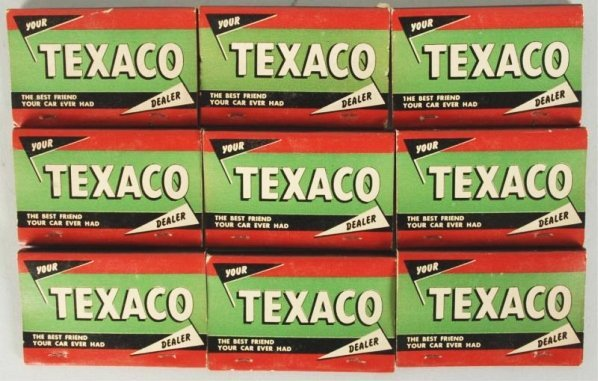 Lot of 9: Texaco Double Matchbooks.