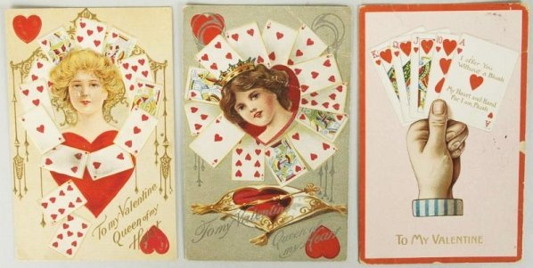 Lot of 3: Valentine's and Postcards.