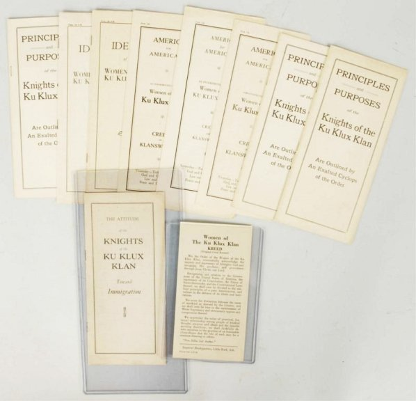 Lot of 10: Assorted KKK Informative Booklets.
