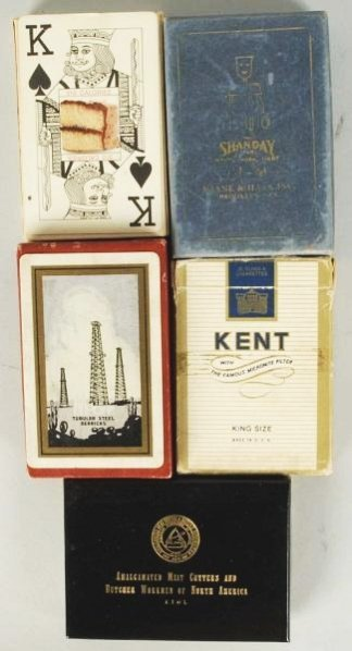 Lot of 5: Decks of Cards.
