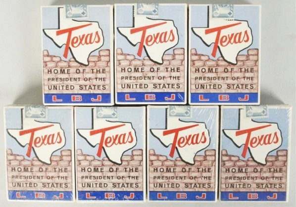 Lot of 7: Texas & LBJ Card Decks.