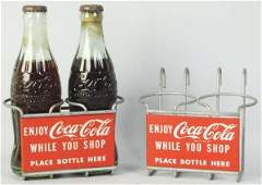 Pair of CocaCola Shopping Cart Bottle Rack
