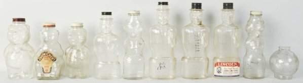 Lot of 10: Glass Bottle Still Banks.