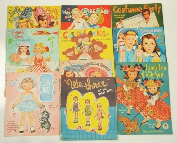 Lot of 10: Children Theme Paper Doll Sets.