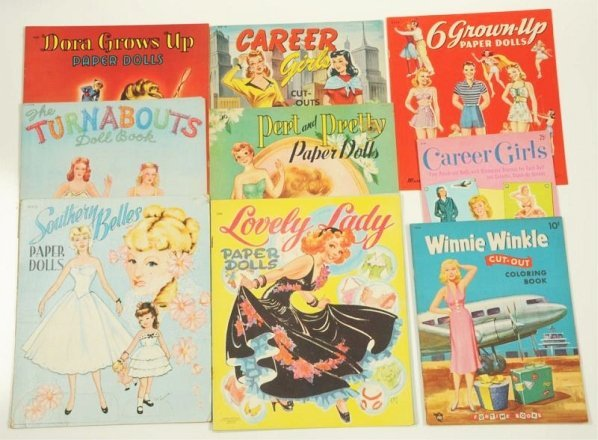 Lot of 10: Glamour Theme Paper Doll Sets.