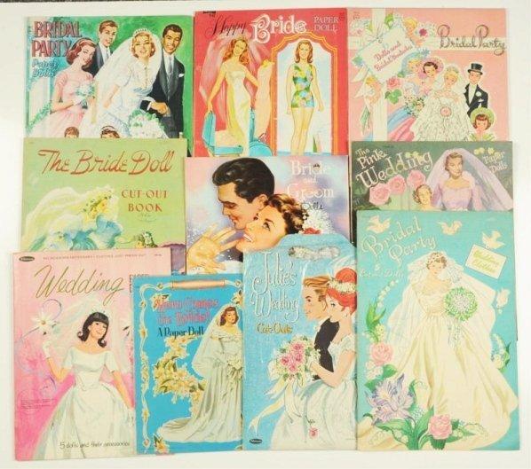 Lot of 10: Bridal Theme Paper Doll Sets.