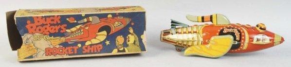 Tin Marx Buck Rogers Rocket Ship Wind-Up Toy.