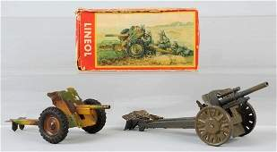 Lot of 2 Lineol Light Howitzer  PAK Gun