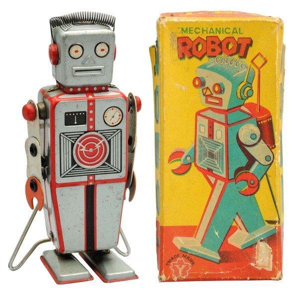 Tin Litho Wind-Up Mechanical Robot.