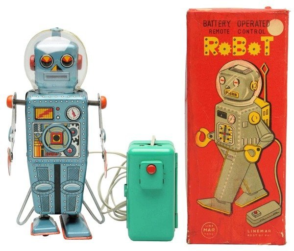 Tin Litho Battery-Operated Robot.