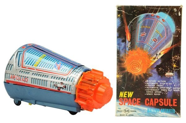 Tin Litho Battery-Operated Space Capsule.